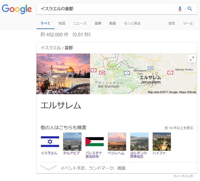 イスラエルの首都はエルサレム